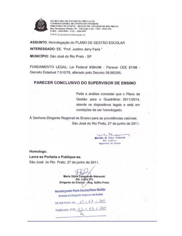 Plano de Gestão Prof Justino Jerry Faria