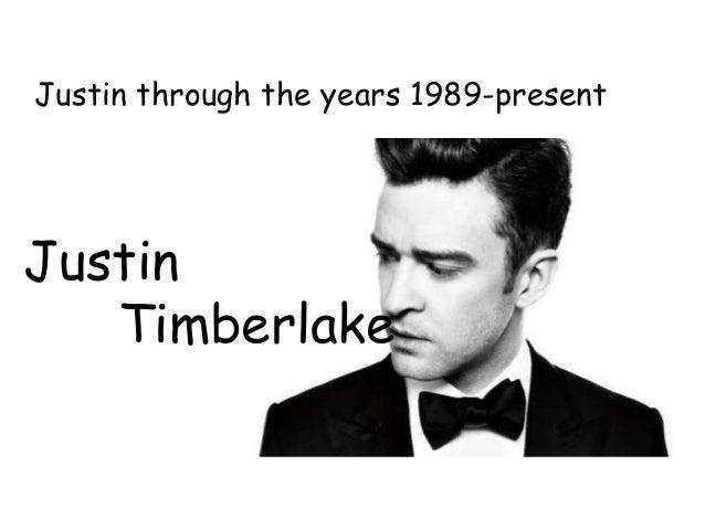 Justin Timberlake Justin through the years 1989-present