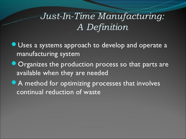 Just in time definition pdf