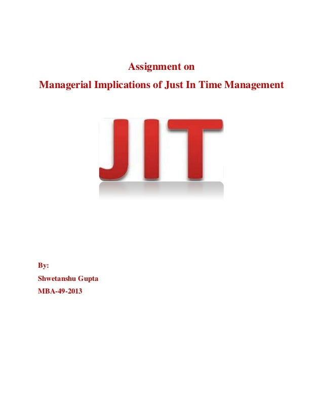 just in time concept The underlying concept of the just-in-time (jit) philosophy is to smooth the  manufacturing process through the efficient handling of materials, such as  providing.