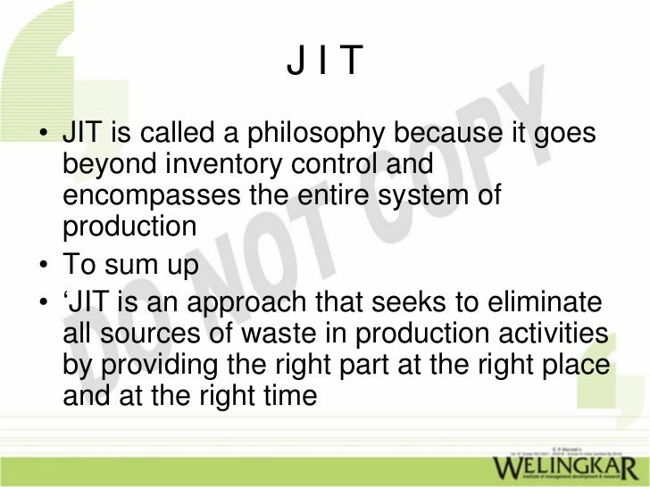 Just in time inventory systems essay