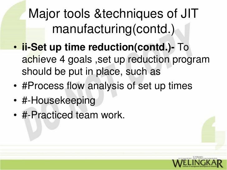 recommendation for just in time system Sought to examine recommendations on ways to enhance just in time procurement in these institutions implementation of just in time procurement in the office of attorney general and department of justice which that: there was no uniform procurement system for the public sector as a whole (ppoa) jit is also.