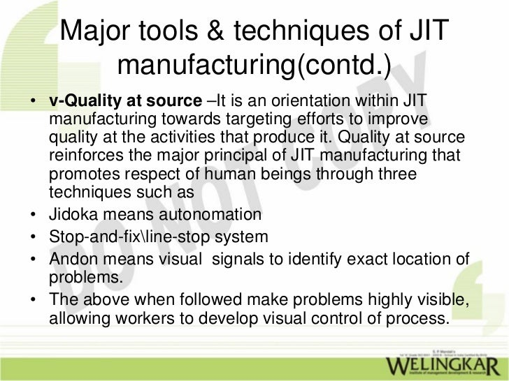 recommendation for just in time system Usage recommendation: superseded mapping: mapping notes date new unit, superseding msacmt621a develop a just in time (jit) system - not equivalent prerequisite msacmc410a lead change in a manufacturing environment - removed unit descriptor.