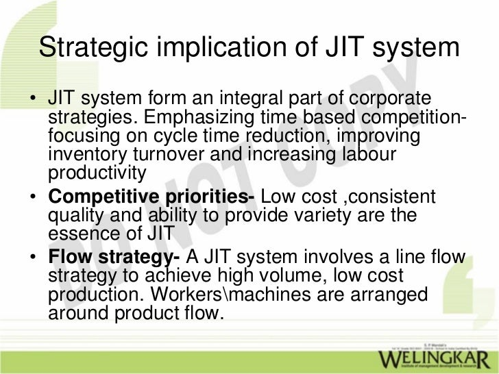 jit system Just-in-time is a key part of the toyota production system read our explanation here.