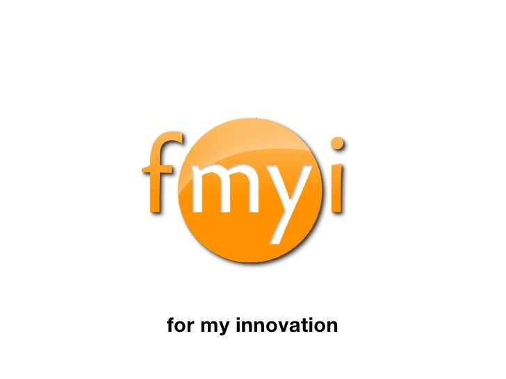 for my innovation