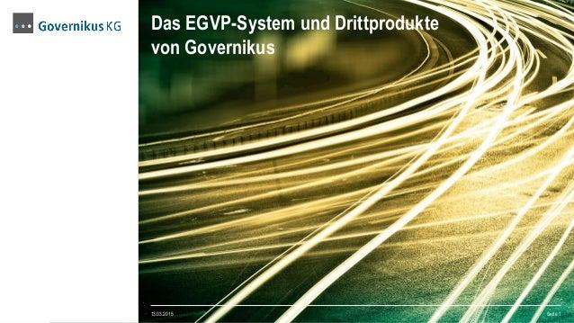Das EGVP-System und Drittprodukte von Governikus 13.03.2015 Seite 1