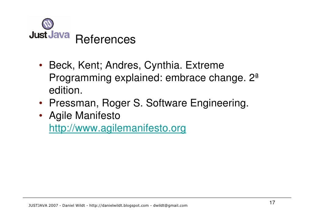 essay on extreme programming Free college essay software developing method: extreme programming software developing method: extreme programming after analyzing and evaluating the team members.