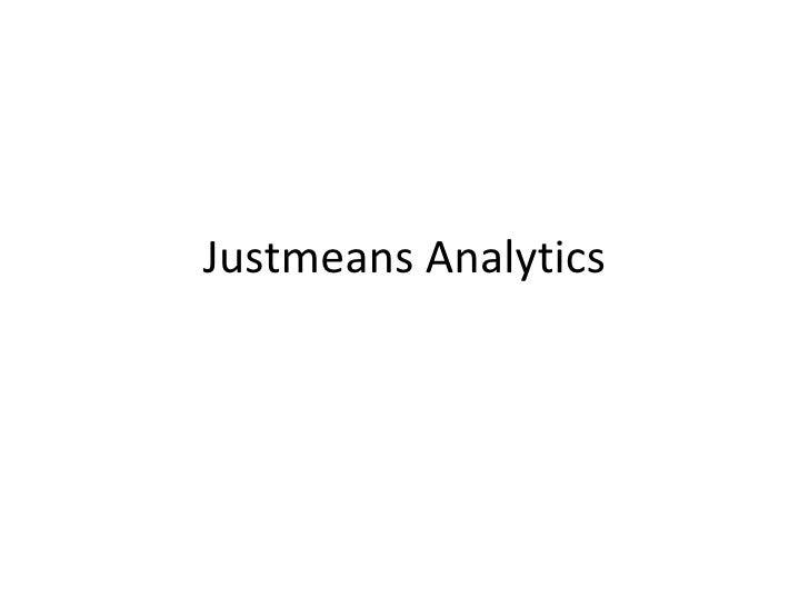 Justmeans Analytics