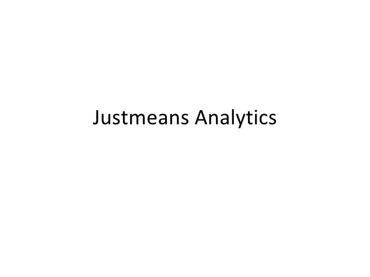 Justmeans power point