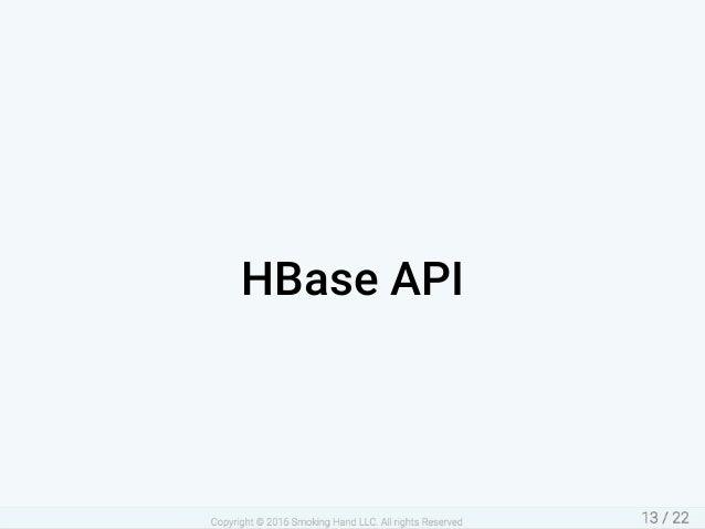 HBaseAPI