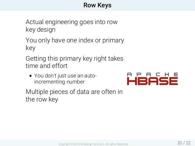Actualengineeringgoesintorow keydesign Youonlyhaveoneindexorprimary key Gettingthisprimarykeyrighttakes ti...