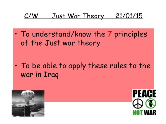 the just war theory essay Jihad and just war: a comparative analysis nico romerijn-stout  in the sections that follow, i will trace the development of the just war theory in.