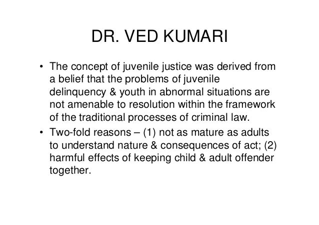 Rationale of juvenile delinquency