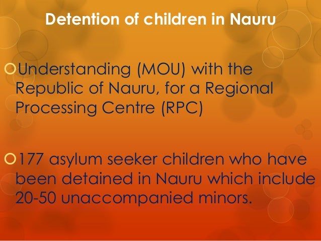 an analysis of australias laws concerning children of asylum seekers A 12-year-old asylum seeker girl on nauru was taken to hospital after trying to set   policy on italian radio, leading to a flurry of analysis of australia's sovereign   against the australian government regarding refugee children's health have  been  this retrospective legislation ultimately seeks to authorise past  government.
