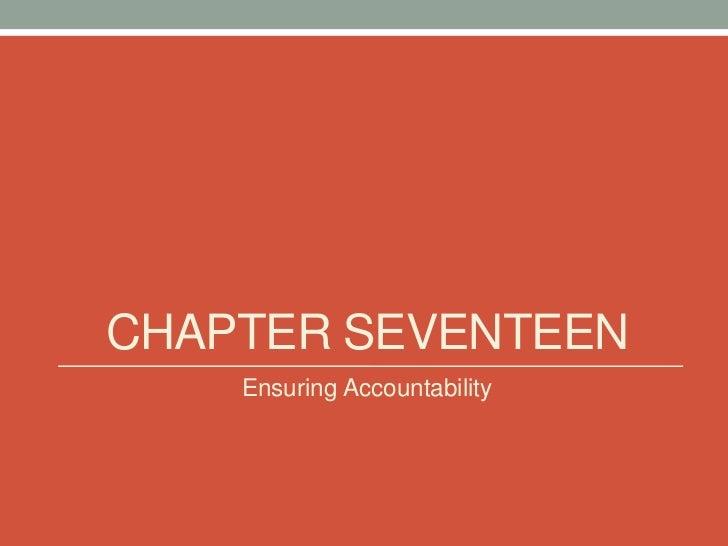 CHAPTER SEVENTEEN    Ensuring Accountability