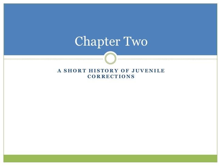Chapter TwoA SHORT HISTORY OF JUVENILE        CORRECTIONS