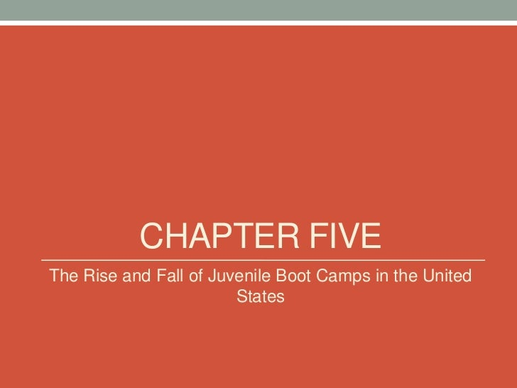 CHAPTER FIVEThe Rise and Fall of Juvenile Boot Camps in the United                        States