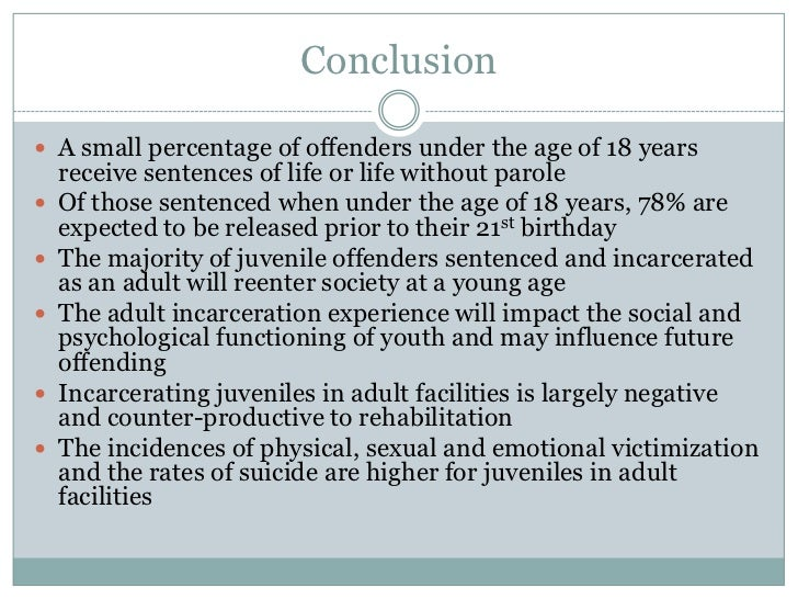 suggestions for the rehabilitation of juvenile offenders
