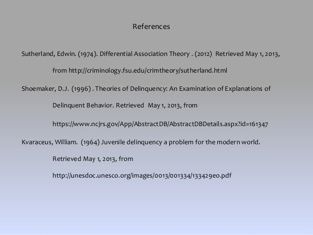 differential association theory pdf