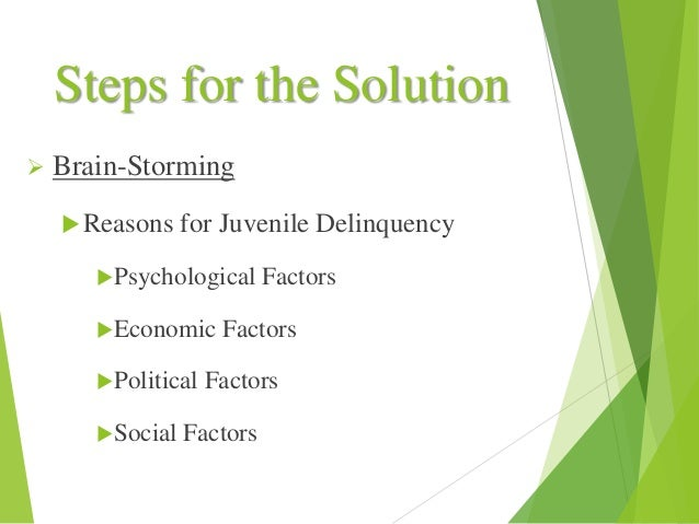 the contributing factors to juvenile delinquency Other factors that may lead a teenager into juvenile delinquency include poor or low socioeconomic status, poor school readiness/performance and/or failure, peer rejection, or attention deficit hyperactivity disorder (adhd) there may also be biological factors, such as high levels of serotonin, giving them a difficult temper.