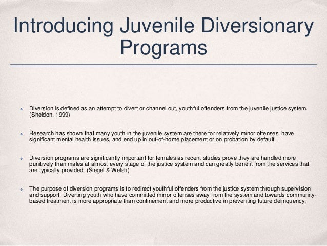 pros and cons of juvenile diversion programs