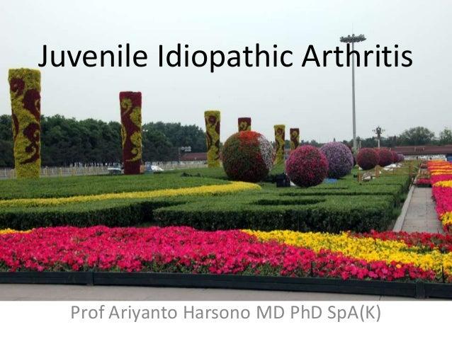 Juvenile Idiopathic Arthritis Prof Ariyanto Harsono MD PhD SpA(K)