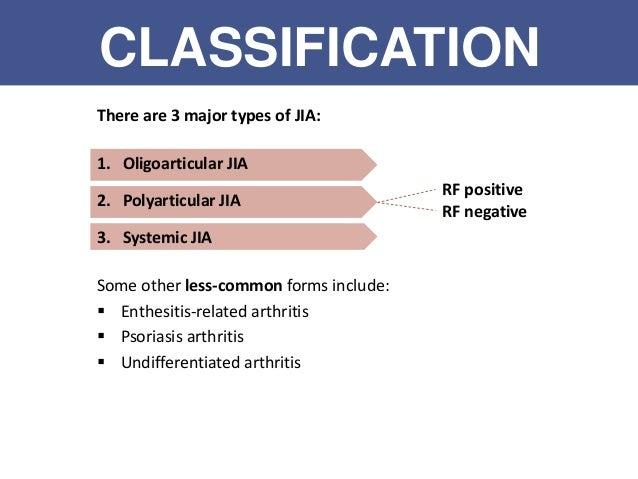 Juvenile idiopathic arthritis  JIA