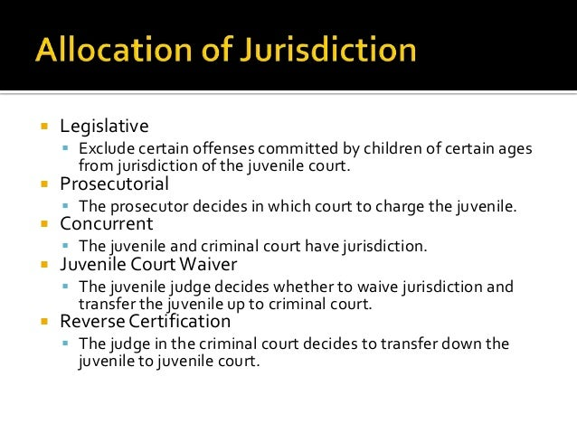 Differences between juvenile adult justice