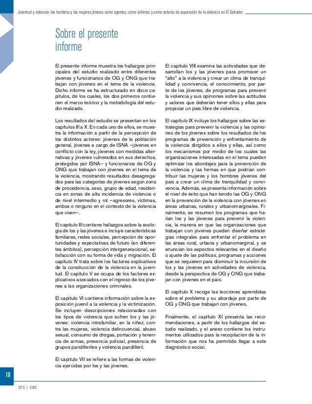 Resumen ejecutivoIntroducciónEl Programa Conjunto de Reducción de Violencia y Construcción de Capital Social en El Salvado...