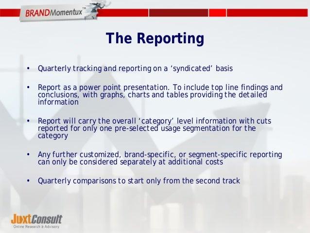 Track presentation