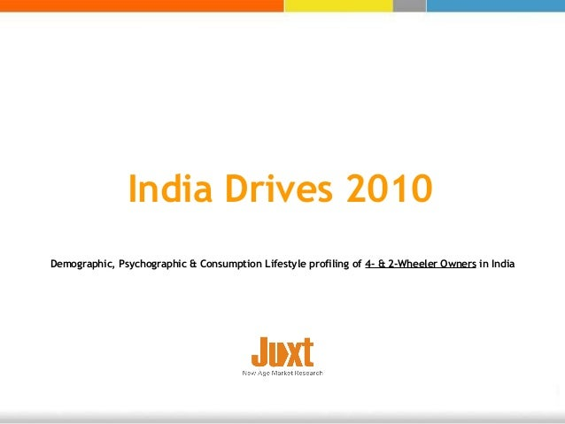 India Drives 2010 Demographic, Psychographic & Consumption Lifestyle profiling of 4- & 2-Wheeler Owners in India