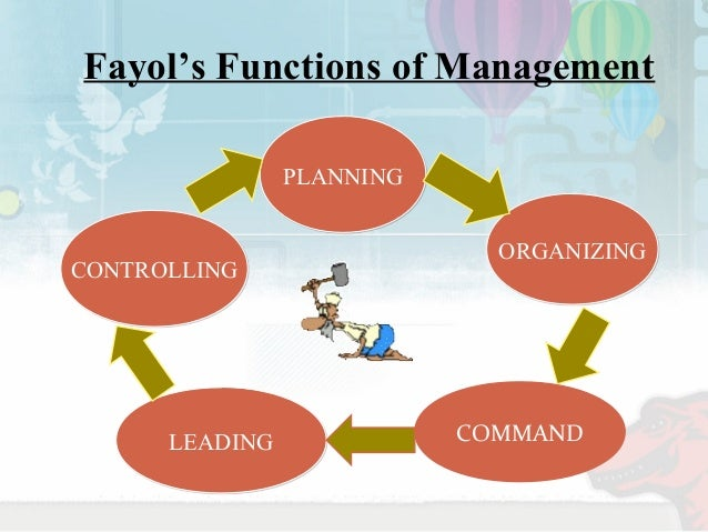 fayols 4 functions of management For management functions, the objective of the specific activity  henri fayol was the first to attempt classifying managerial activities into.