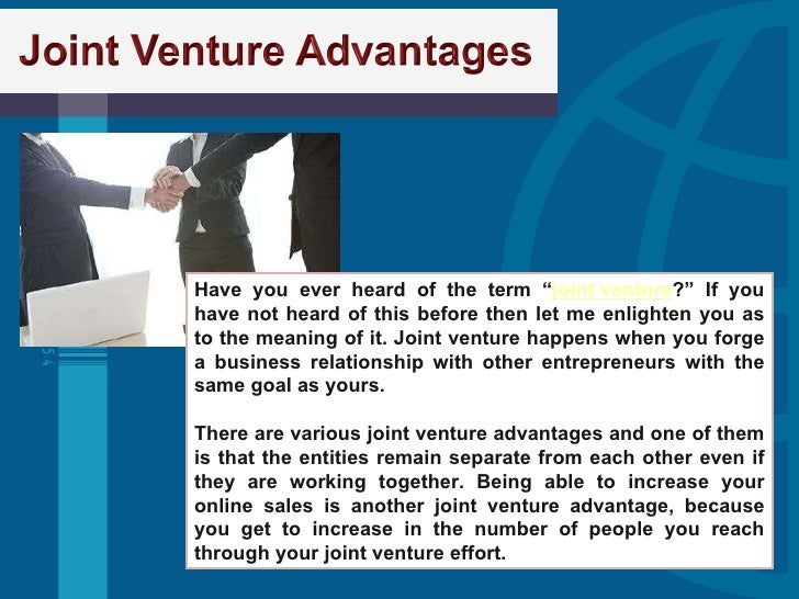 joint venture essay A first time expatriates experience in a joint venture in china chinese-yemeni joint venture in fish industry corning-vitro joint venture analysis corning-vitro joint venture analysis it is claimed that 40% of mergers and joint ventures fail discuss with reasons the above issue.