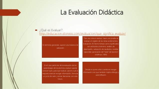 EVALUACIÓN DIDÁCTICA Slide 2