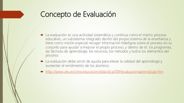 EVALUACIÓN DIDÁCTICA Slide 3