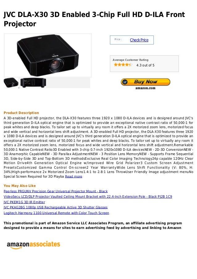 JVC DLA-X30 3D Enabled 3-Chip Full HD D-ILA FrontProjector                                                                ...