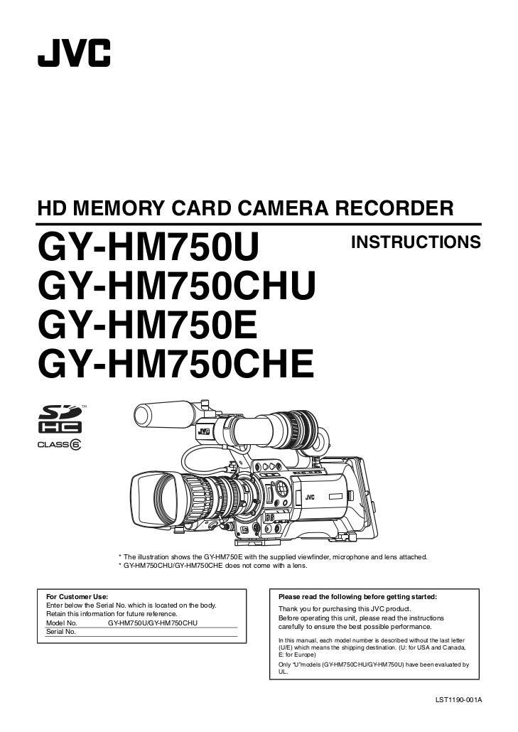 HD MEMORY CARD CAMERA RECORDERGY-HM750U                                                                                   ...