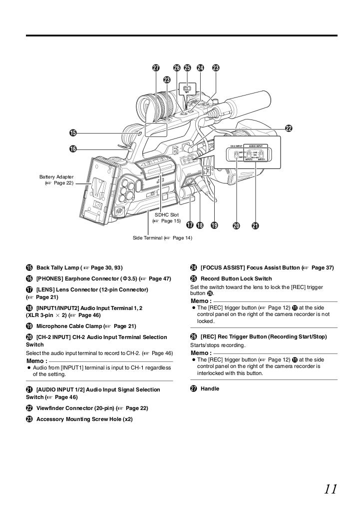 JVC GY-HM750E Operation Manual