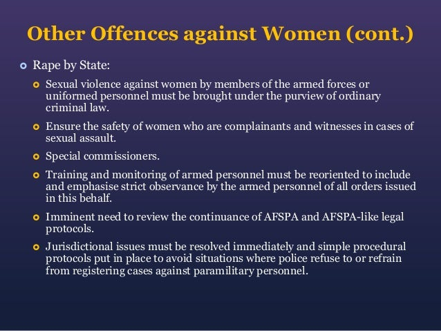 27. Other Offences ...