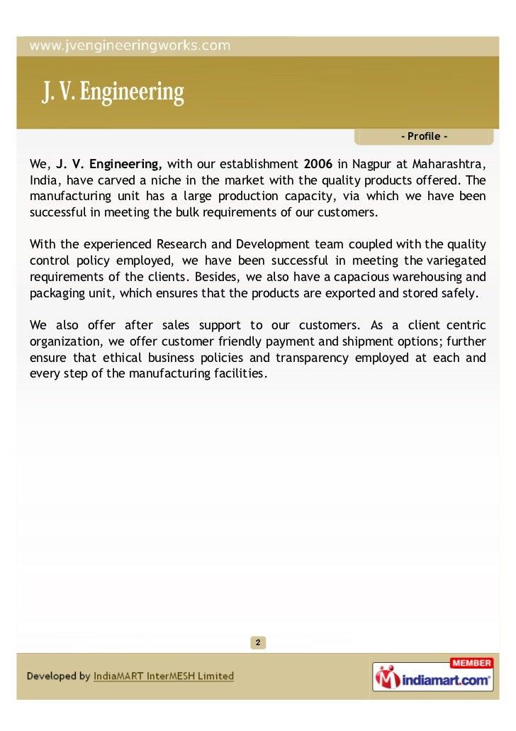Manufacturer In Nagpur: J. V. Engineering, Nagpur, Construction Equipment & Allied