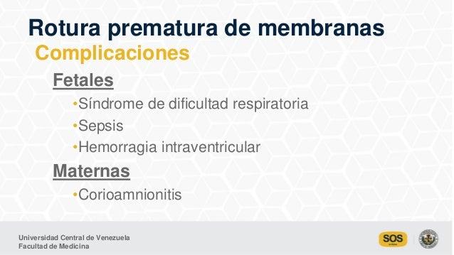 Universidad Central de Venezuela Facultad de Medicina Fetales •Síndrome de dificultad respiratoria •Sepsis •Hemorragia int...