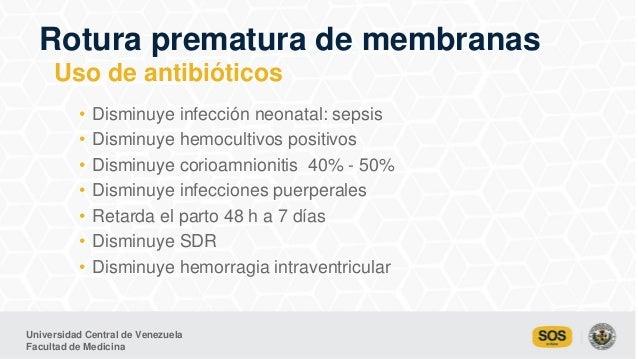 Universidad Central de Venezuela Facultad de Medicina • Disminuye infección neonatal: sepsis • Disminuye hemocultivos posi...