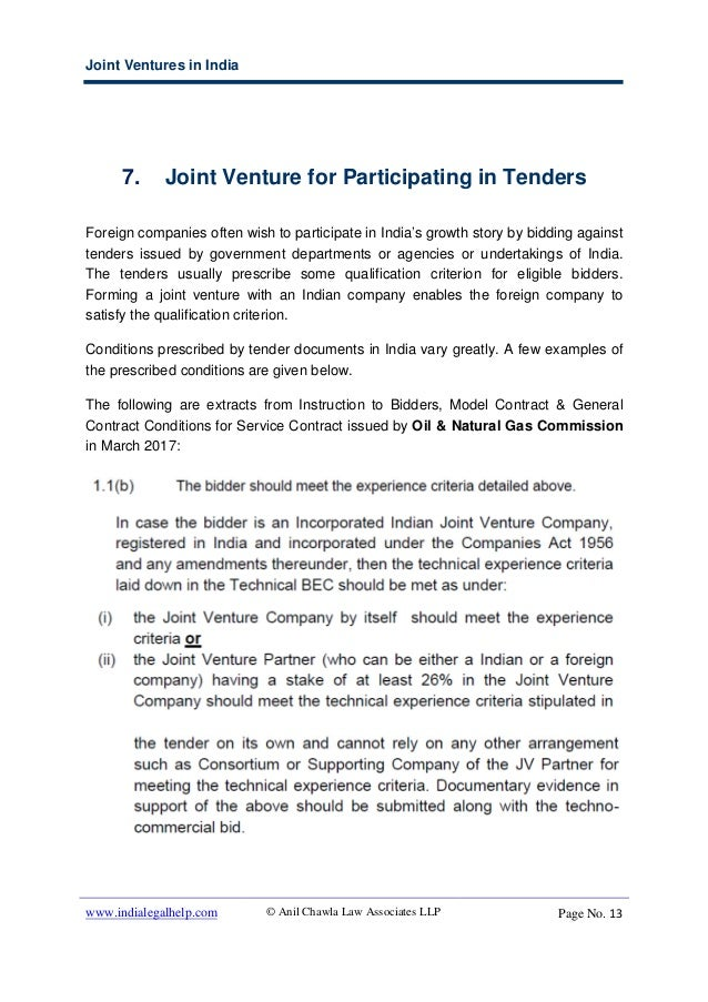 Joint Ventures In India Options Regulations And Restrictions For F