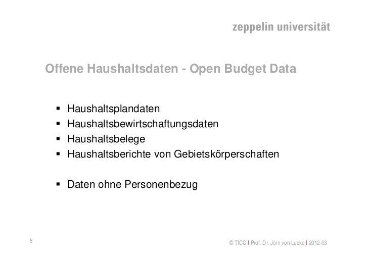 Offene Haushaltsdaten - Open Budget Data        Haushaltsplandaten        Haushaltsbewirtschaftungsdaten        Haushal...
