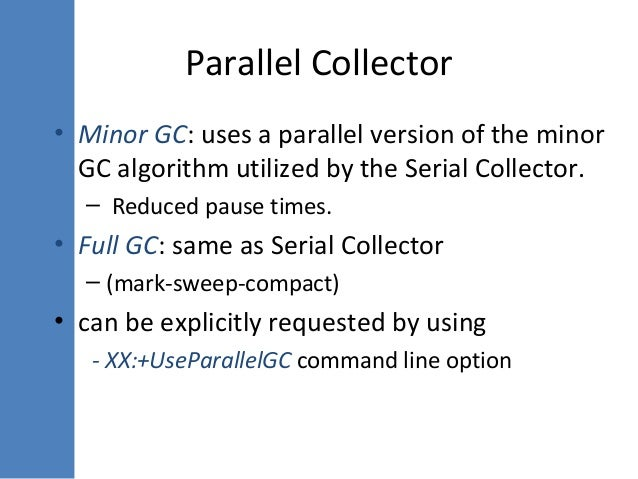 Parallel Version Of Line Drawing Algorithm : An introduction to jvm internals and garbage collection in