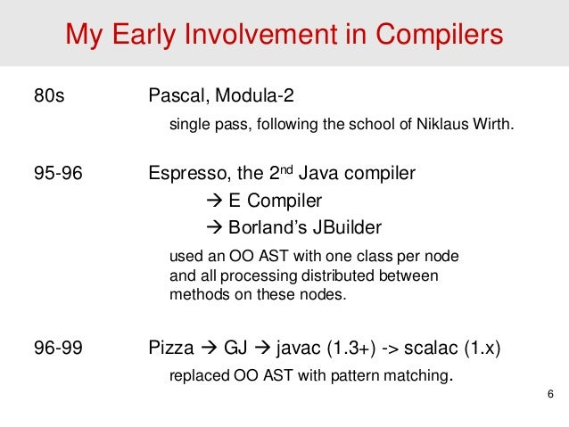 Early pascal compilers