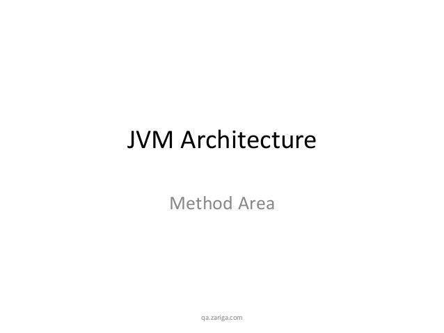 JVM ArchitectureMethod Areaqa.zariga.com