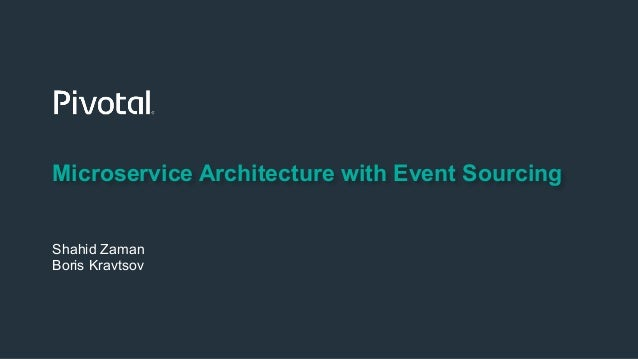 Microservice Architecture with Event Sourcing Shahid Zaman Boris Kravtsov
