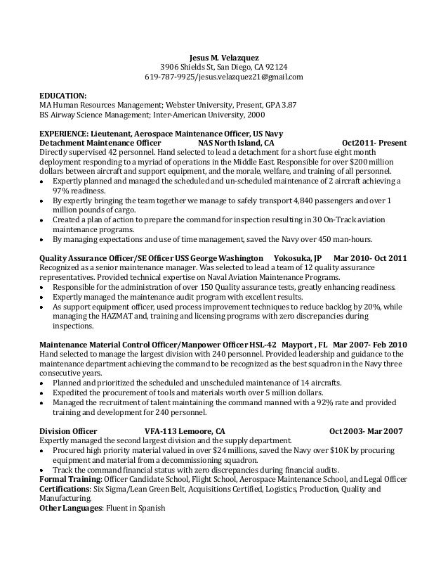 Jv One Page Resume