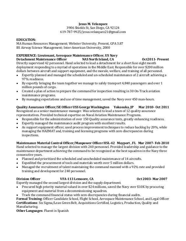 Jesus M. Velazquez 3906 Shields St, San Diego, CA 92124 619 787  Maintenance Man Resume